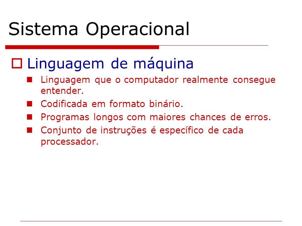 Sistema Operacional Linguagem de máquina