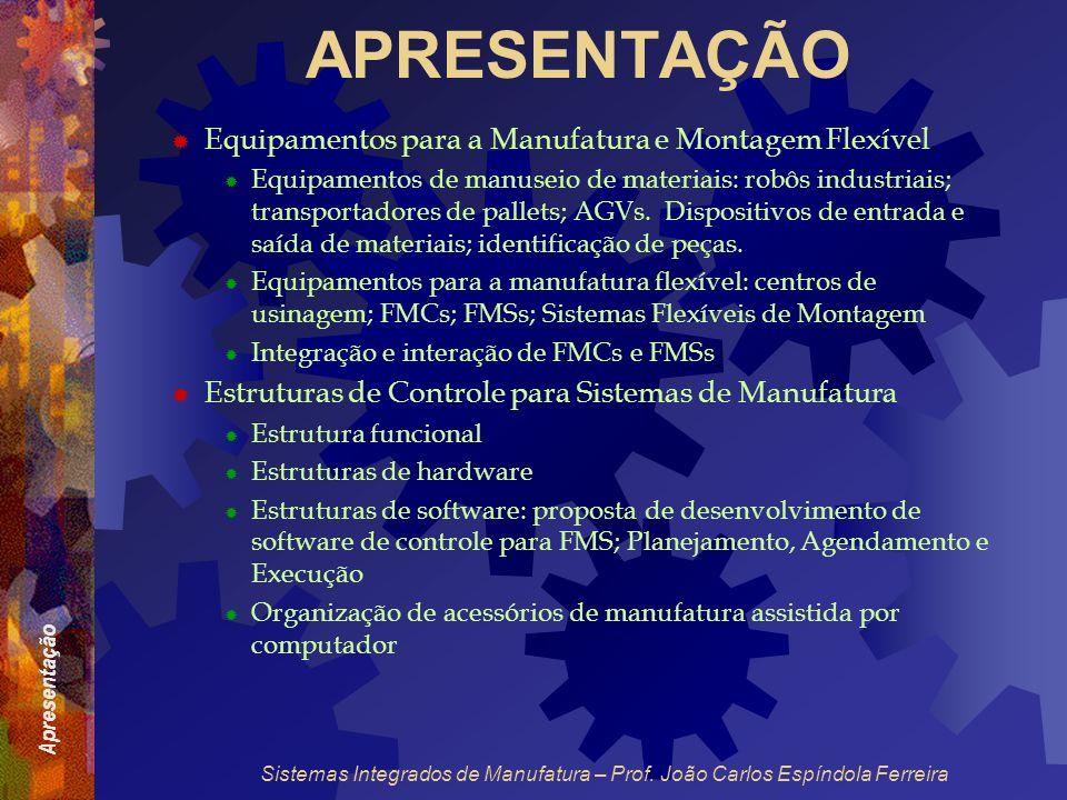 APRESENTAÇÃO Equipamentos para a Manufatura e Montagem Flexível