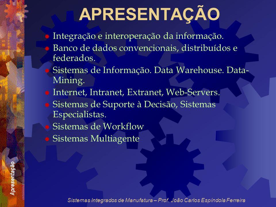 APRESENTAÇÃO Integração e interoperação da informação.