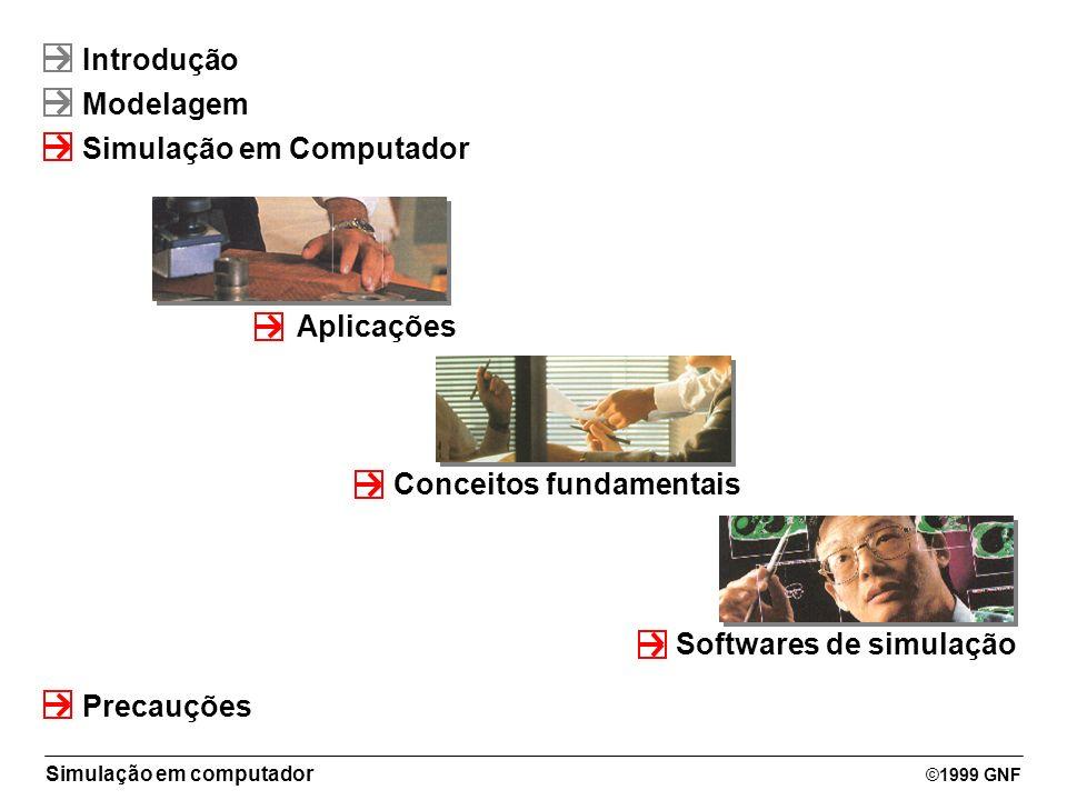 Introdução Modelagem. Simulação em Computador. Aplicações. Conceitos fundamentais. Softwares de simulação.