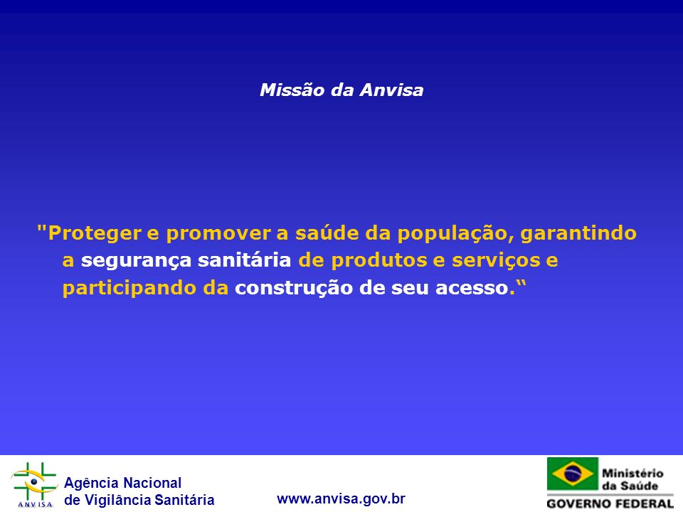 Missão da Anvisa