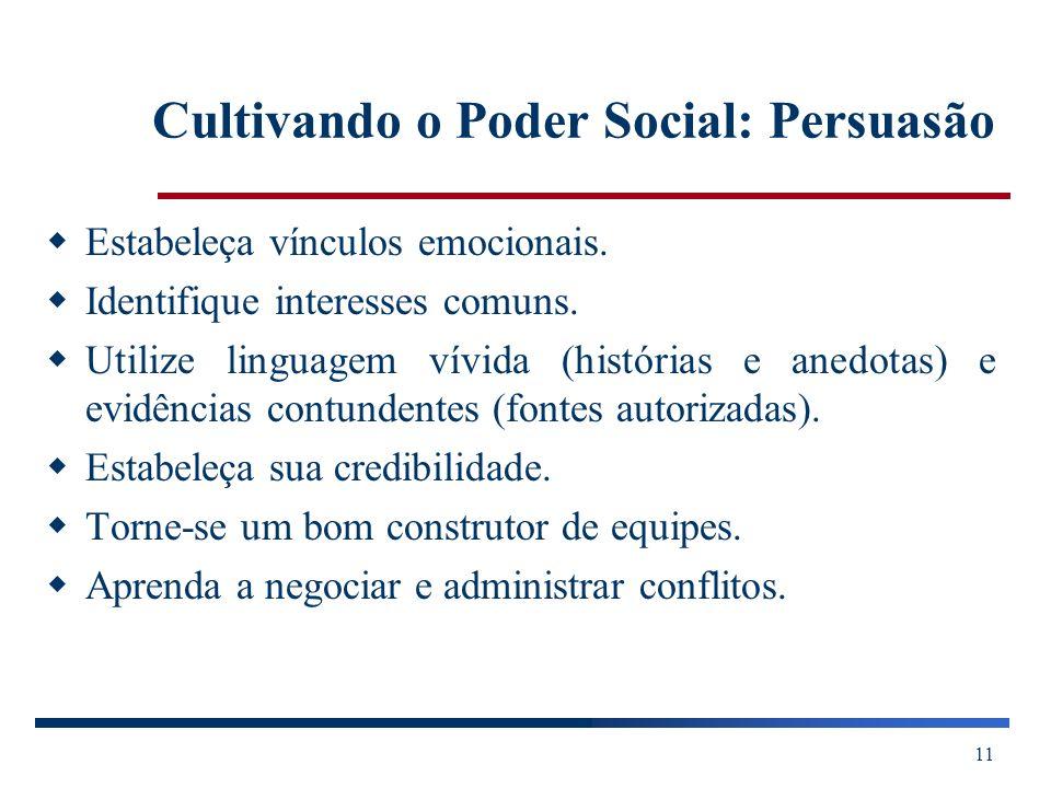 Cultivando o Poder Social: Persuasão