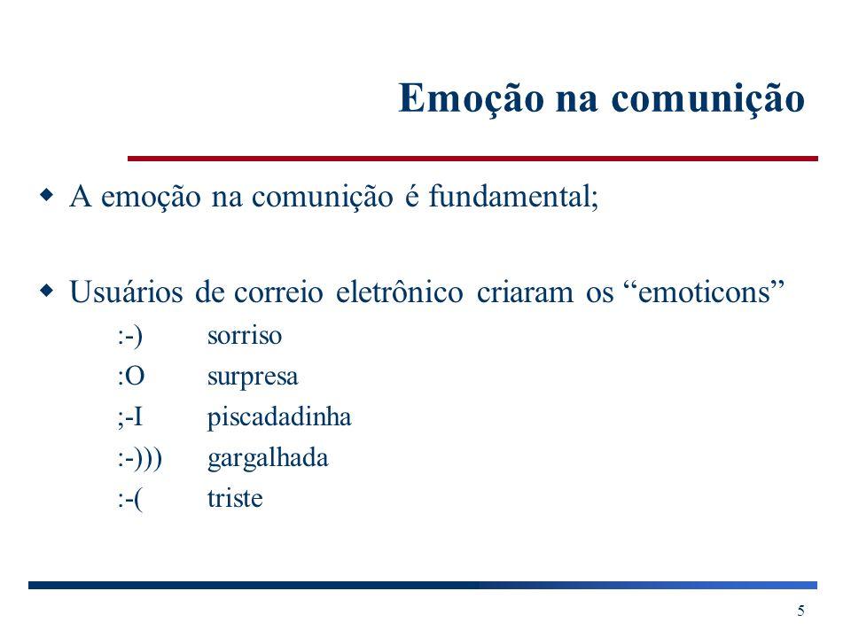 Emoção na comunição A emoção na comunição é fundamental;
