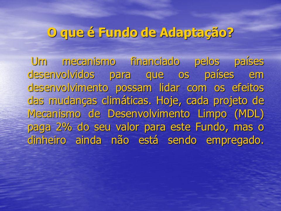 O que é Fundo de Adaptação