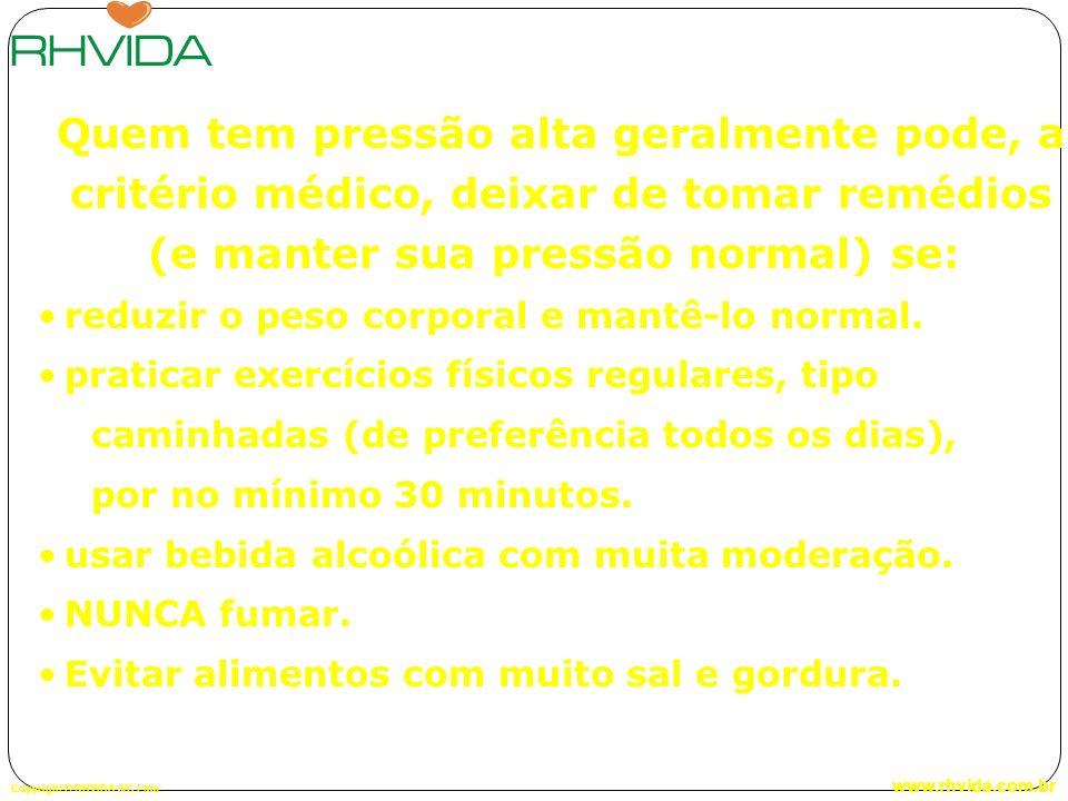 Quem tem pressão alta geralmente pode, a critério médico, deixar de tomar remédios (e manter sua pressão normal) se: