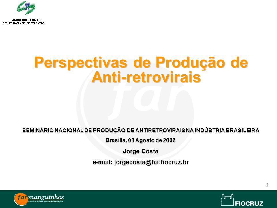 Perspectivas de Produção de Anti-retrovirais
