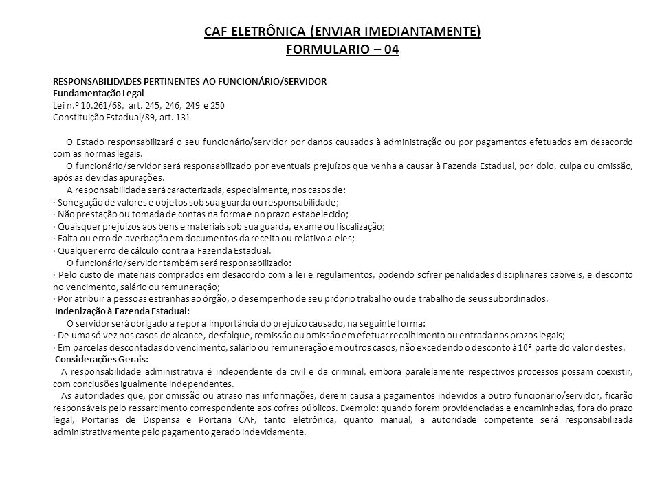 CAF ELETRÔNICA (ENVIAR IMEDIANTAMENTE)