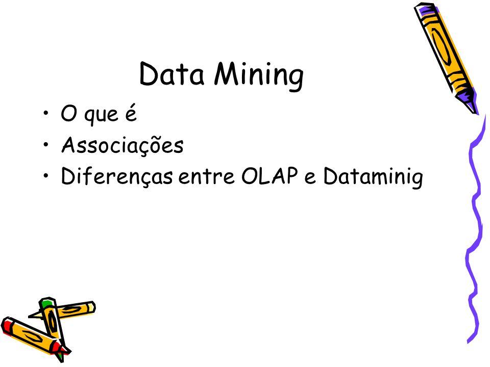 Data Mining O que é Associações Diferenças entre OLAP e Dataminig