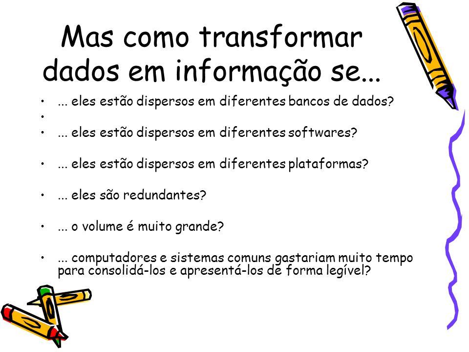 Mas como transformar dados em informação se...