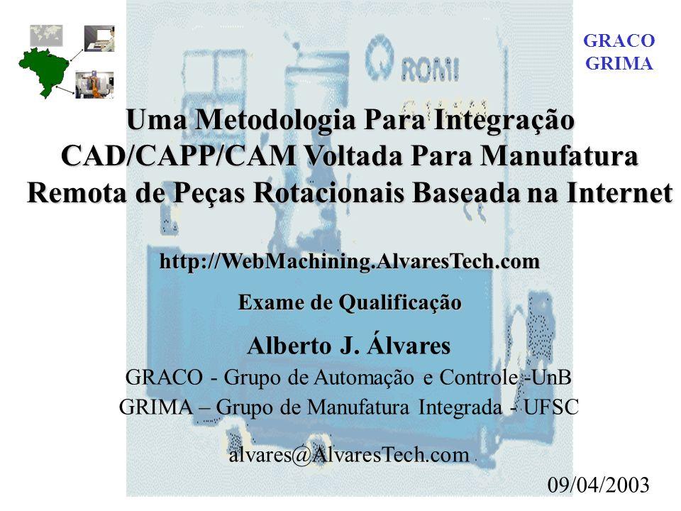 GRACO GRIMA. Uma Metodologia Para Integração CAD/CAPP/CAM Voltada Para Manufatura Remota de Peças Rotacionais Baseada na Internet.