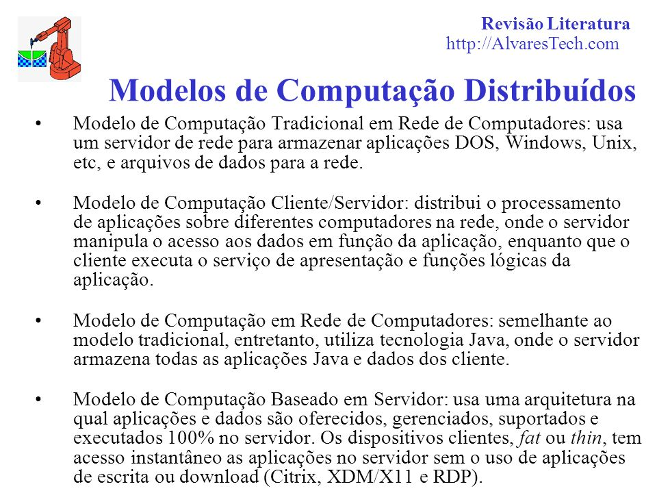 Modelos de Computação Distribuídos