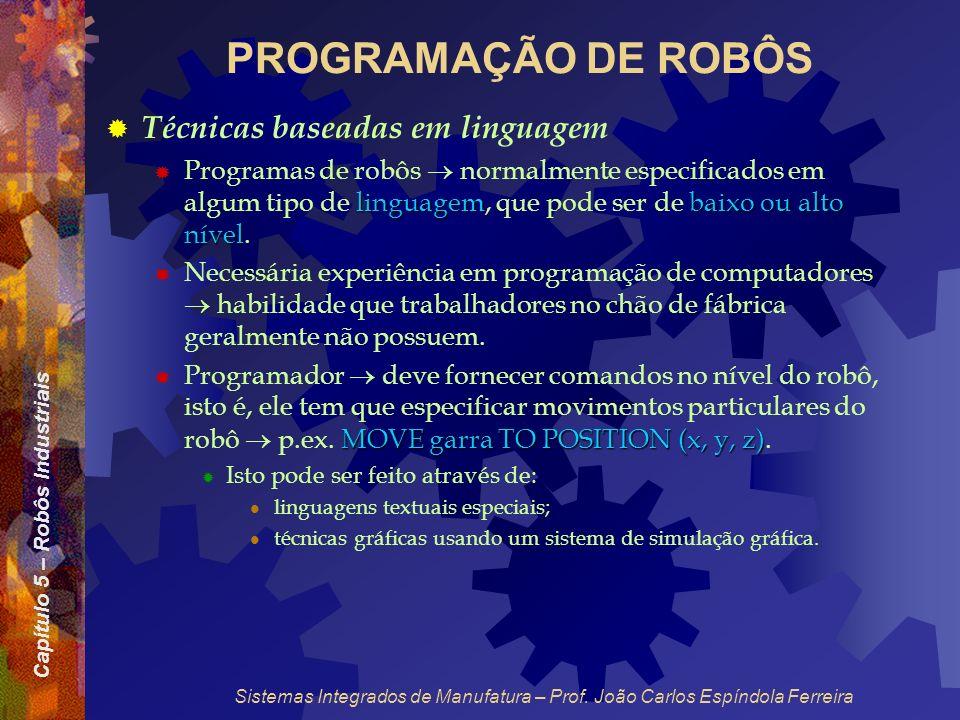PROGRAMAÇÃO DE ROBÔS Técnicas baseadas em linguagem