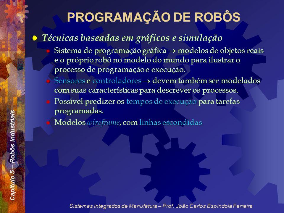 PROGRAMAÇÃO DE ROBÔS Técnicas baseadas em gráficos e simulação
