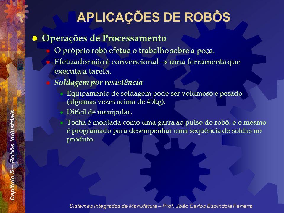 APLICAÇÕES DE ROBÔS Operações de Processamento