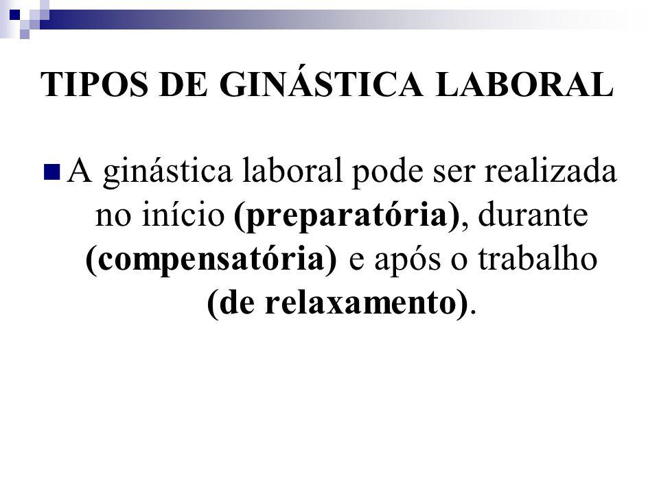 TIPOS DE GINÁSTICA LABORAL