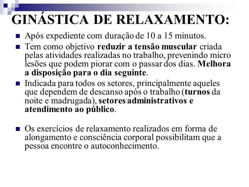 GINÁSTICA DE RELAXAMENTO: