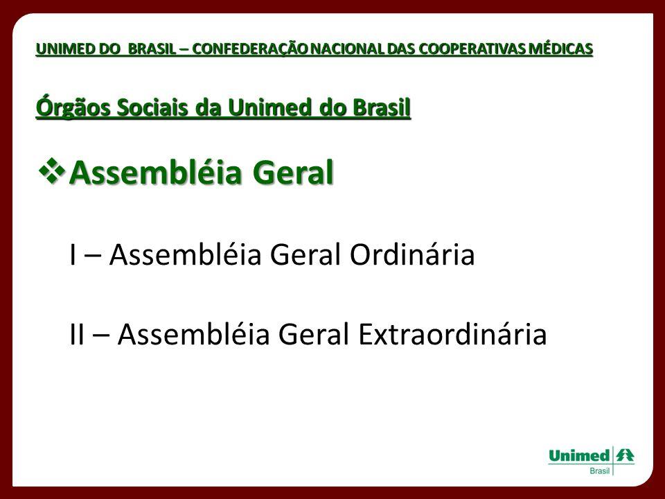 Assembléia Geral I – Assembléia Geral Ordinária