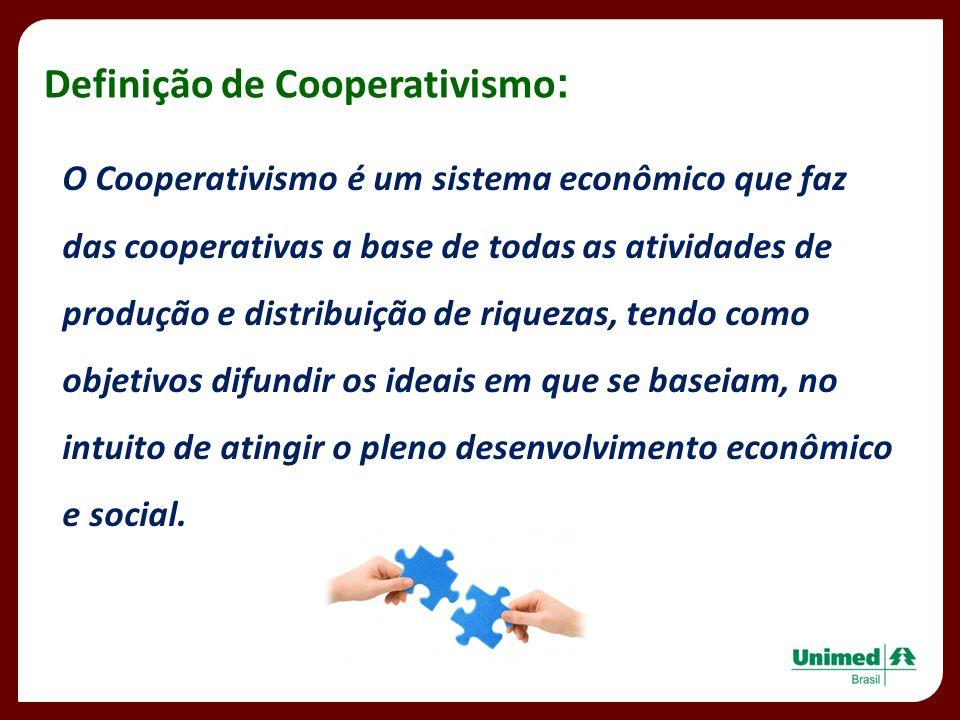 Definição de Cooperativismo: