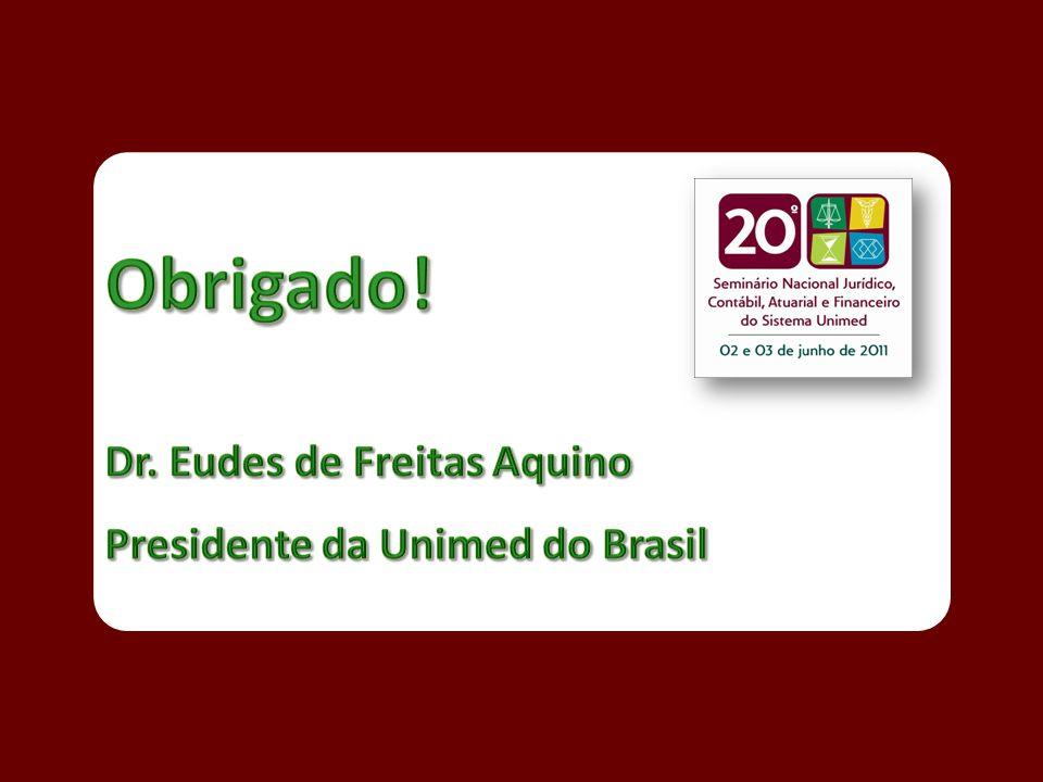 Obrigado! Dr. Eudes de Freitas Aquino Presidente da Unimed do Brasil