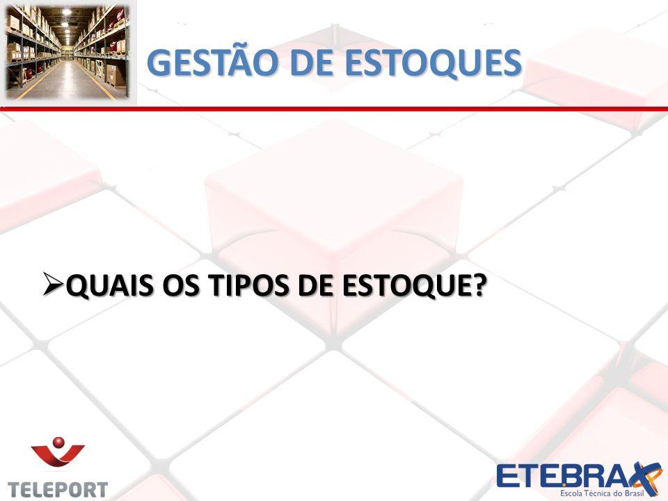 GESTÃO DE ESTOQUES QUAIS OS TIPOS DE ESTOQUE