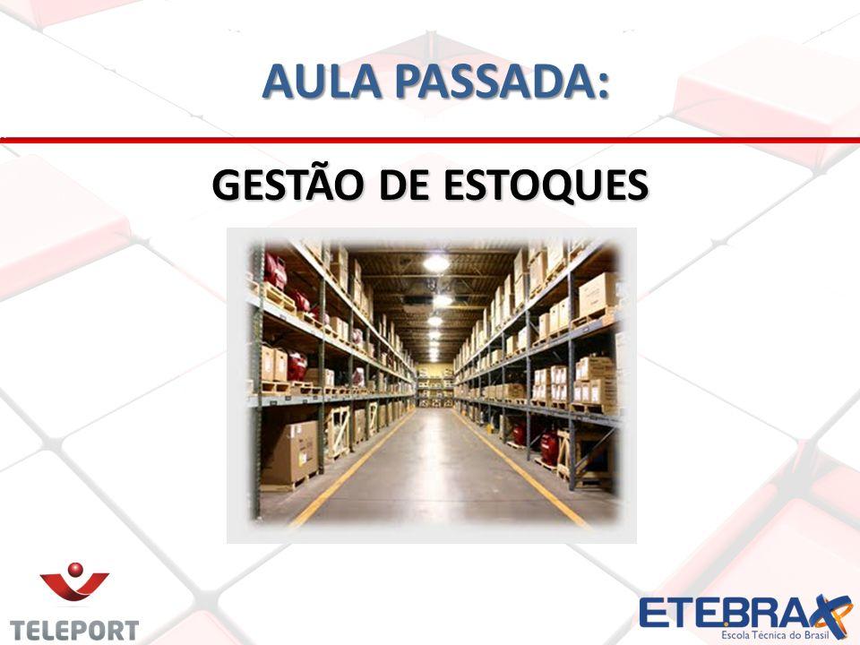 AULA PASSADA: GESTÃO DE ESTOQUES