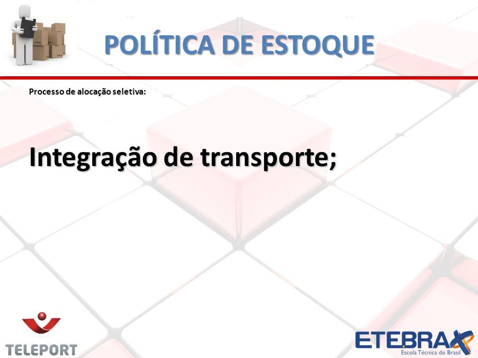 Integração de transporte;