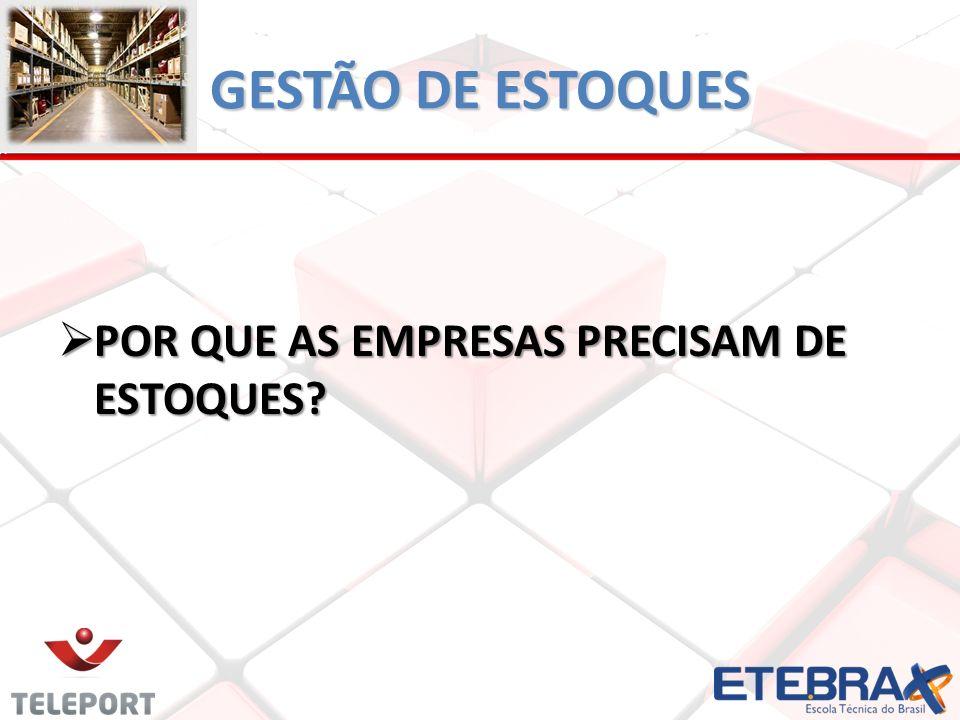 GESTÃO DE ESTOQUES POR QUE AS EMPRESAS PRECISAM DE ESTOQUES