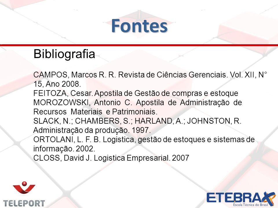 FontesBibliografia. CAMPOS, Marcos R. R. Revista de Ciências Gerenciais. Vol. XII, N° 15, Ano 2008.