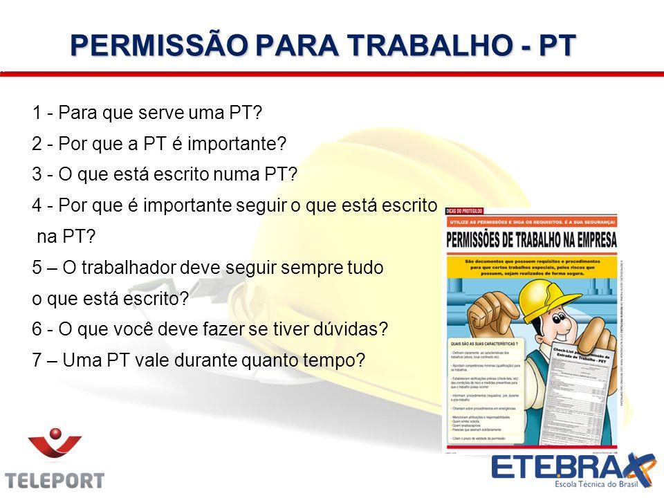 PERMISSÃO PARA TRABALHO - PT