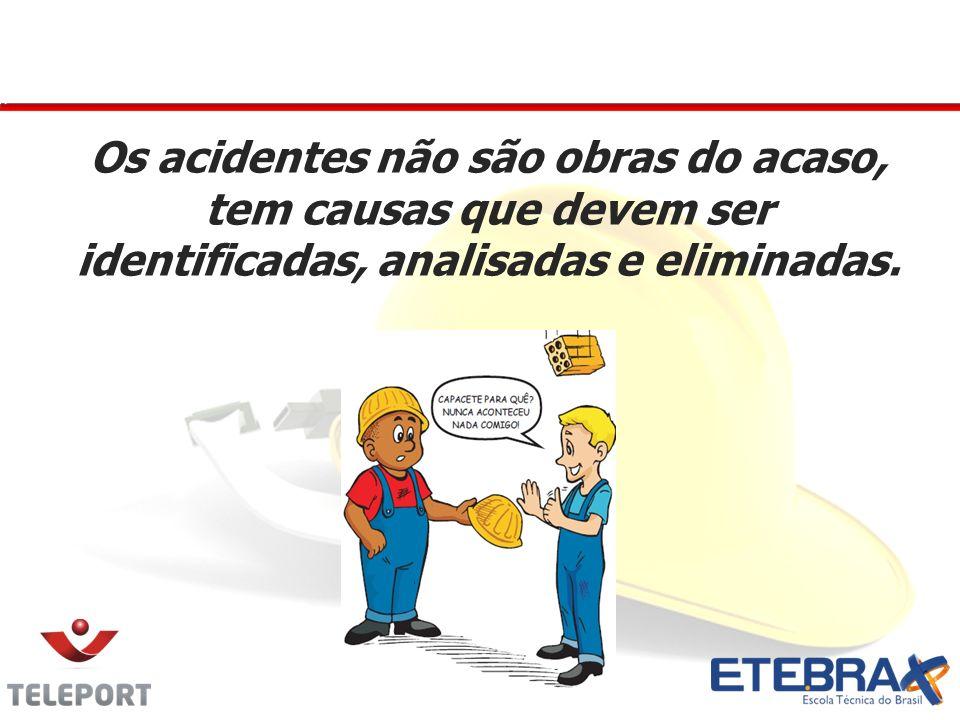 Os acidentes não são obras do acaso, tem causas que devem ser identificadas, analisadas e eliminadas.