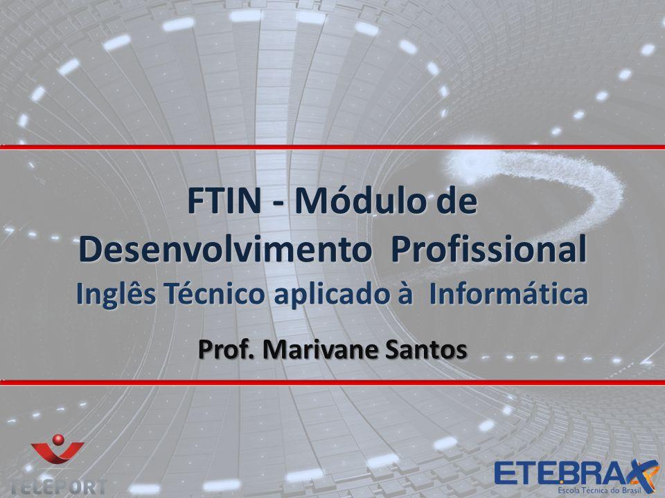 FTIN - Módulo de Desenvolvimento Profissional Inglês Técnico aplicado à Informática