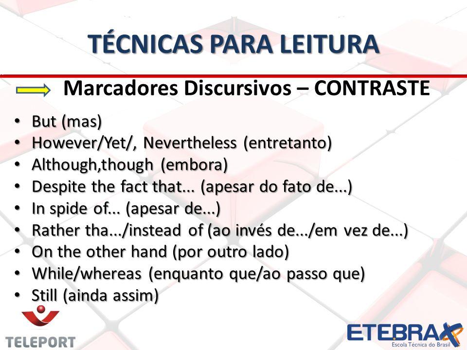 TÉCNICAS PARA LEITURA But (mas)