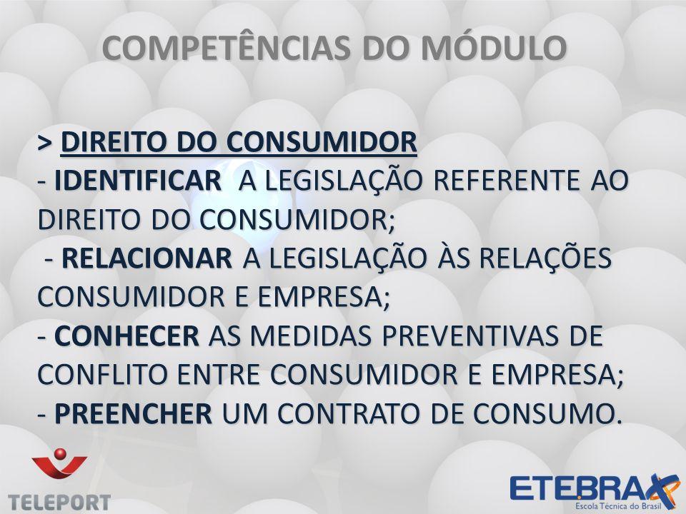 COMPETÊNCIAS DO MÓDULO