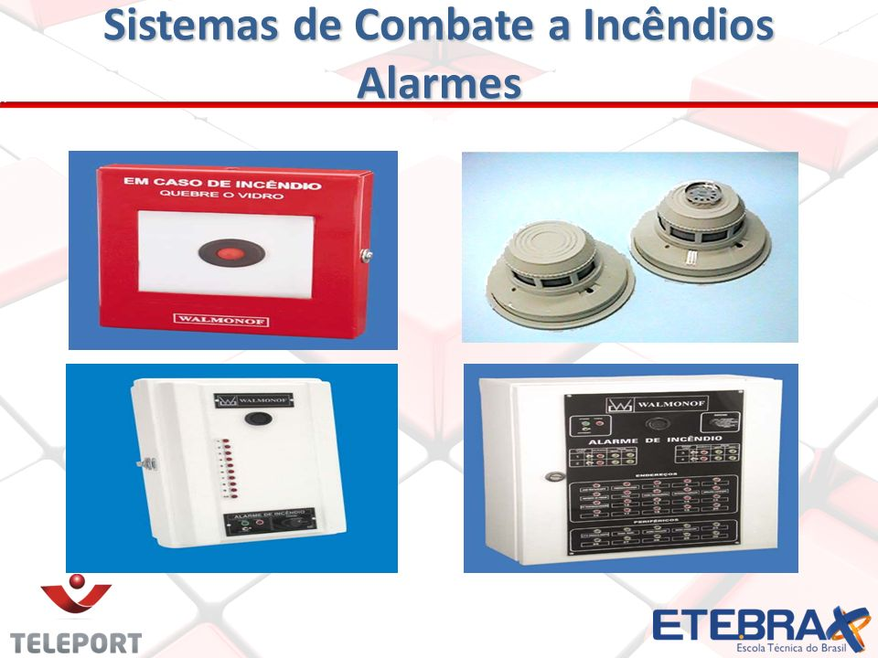 Sistemas de Combate a Incêndios Alarmes