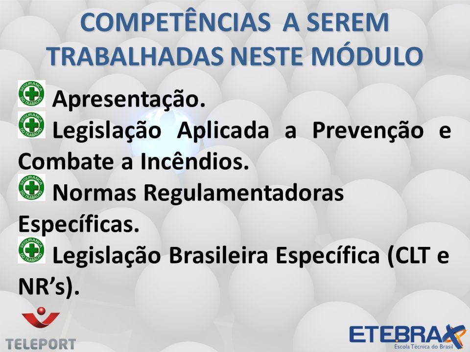 COMPETÊNCIAS A SEREM TRABALHADAS NESTE MÓDULO
