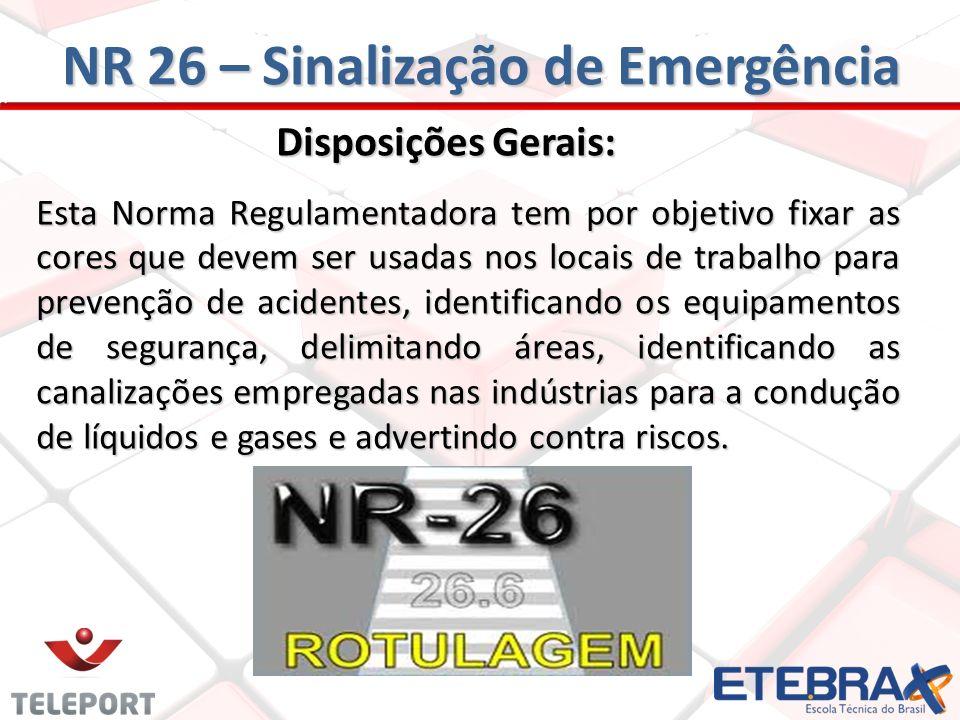 NR 26 – Sinalização de Emergência