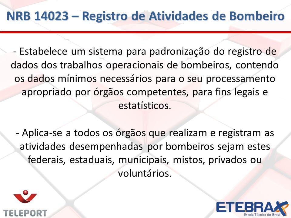 NRB 14023 – Registro de Atividades de Bombeiro