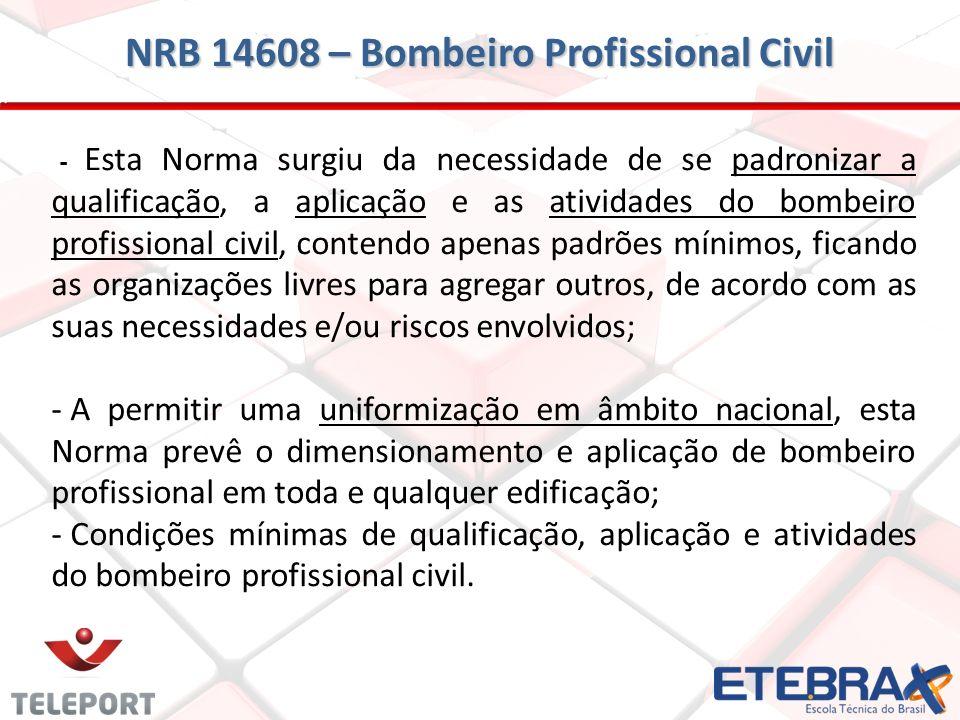 NRB 14608 – Bombeiro Profissional Civil