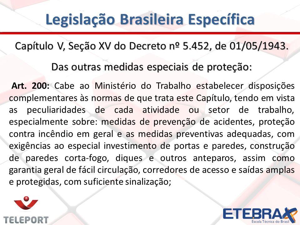 Legislação Brasileira Específica