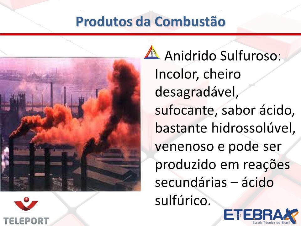 Produtos da Combustão
