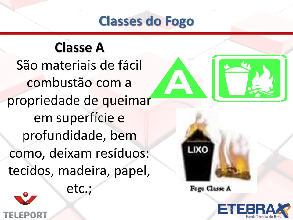 Classes do Fogo Classe A