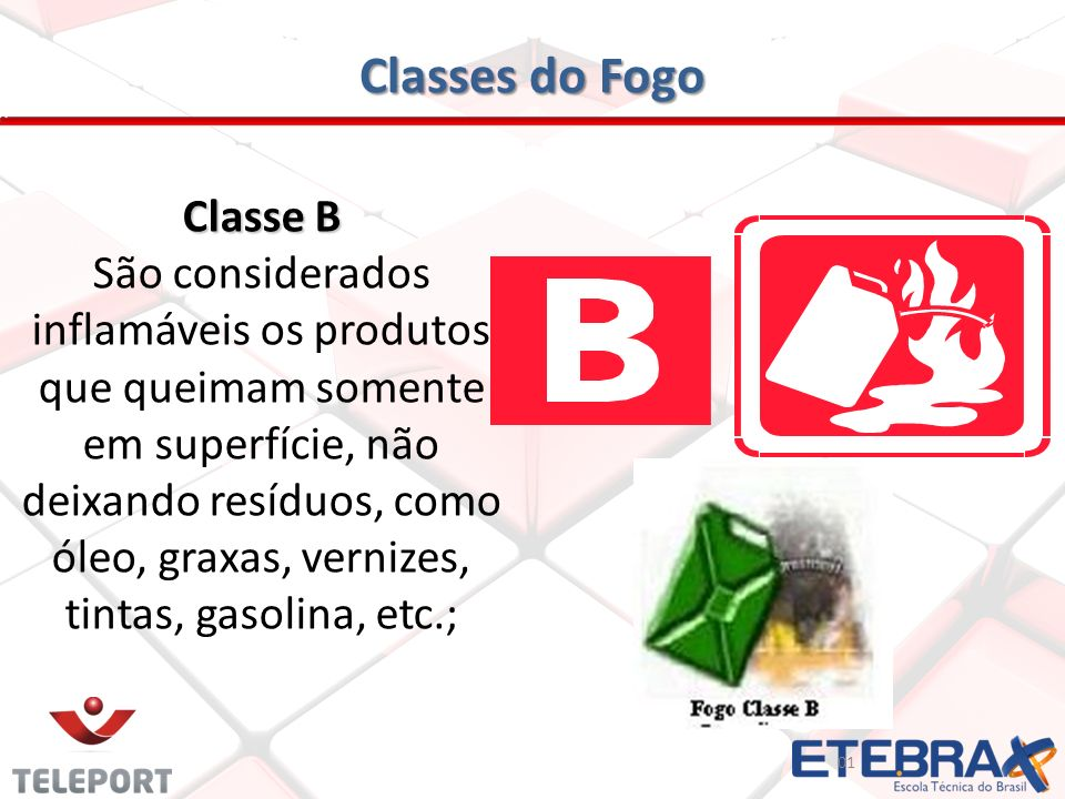 Classes do Fogo Classe B