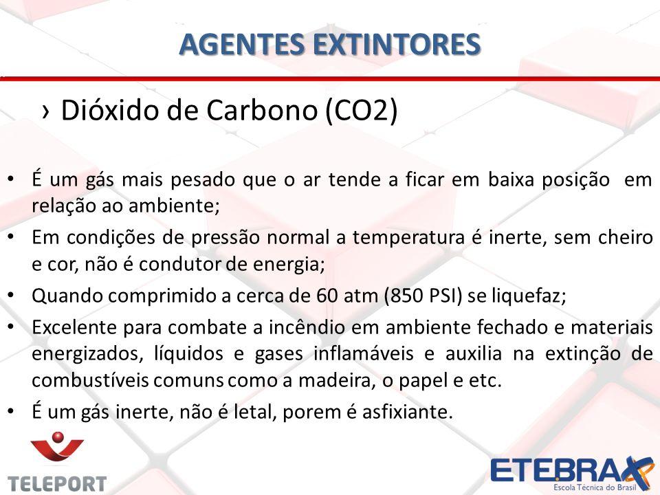 AGENTES EXTINTORES Dióxido de Carbono (CO2)