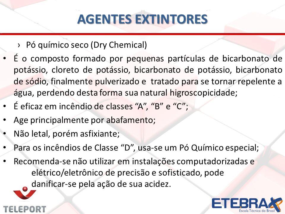 AGENTES EXTINTORES Pó químico seco (Dry Chemical)