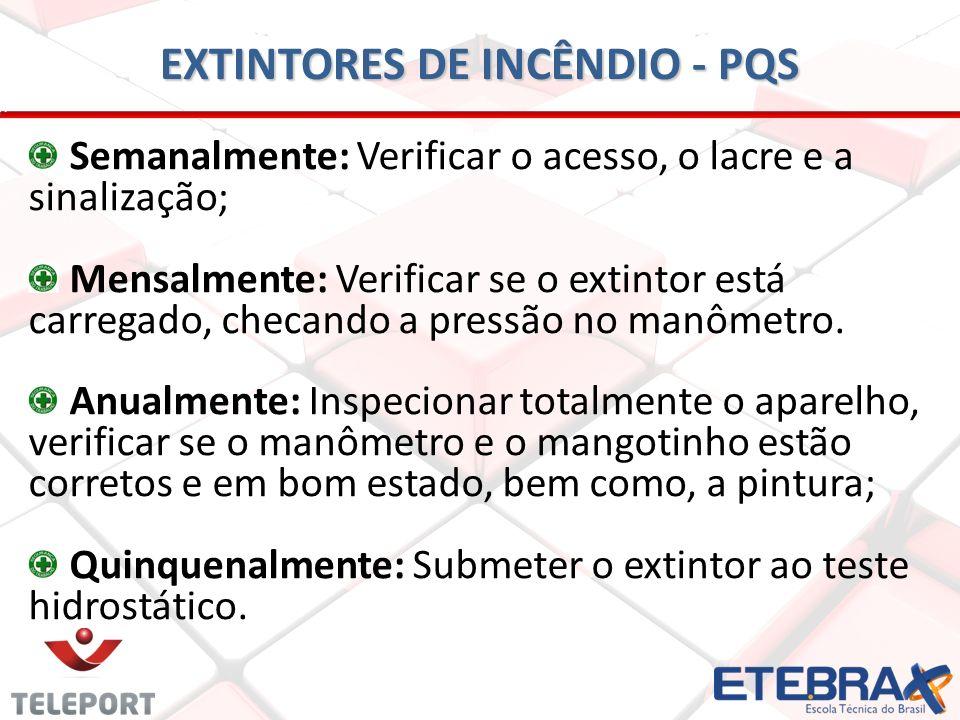 EXTINTORES DE INCÊNDIO - PQS
