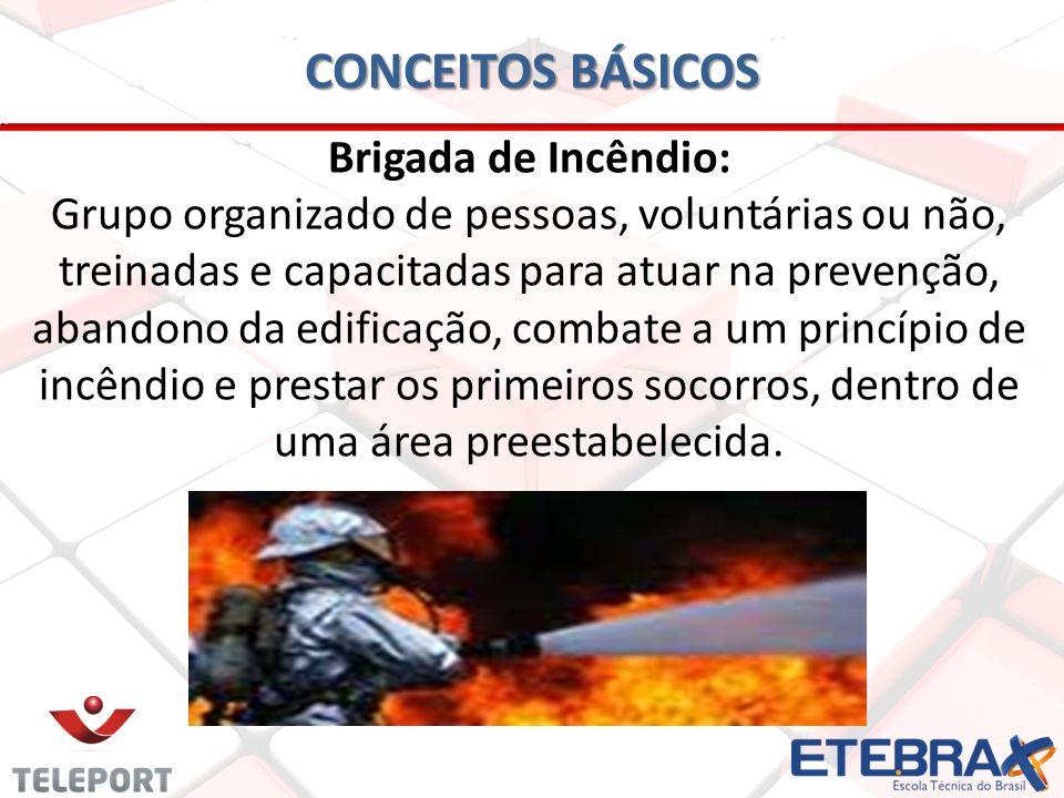 CONCEITOS BÁSICOS Brigada de Incêndio: