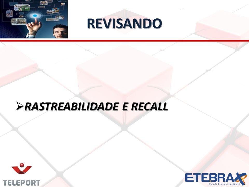REVISANDO RASTREABILIDADE E RECALL