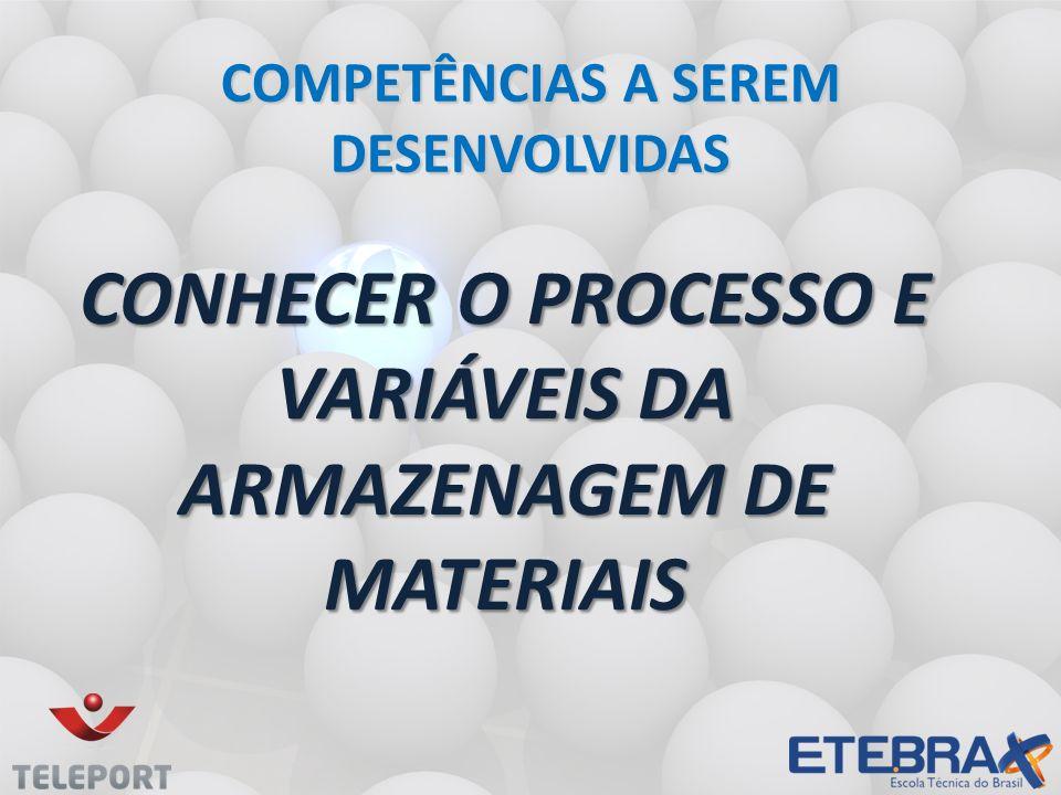 Conhecer o processo e variáveis da armazenagem de materiais