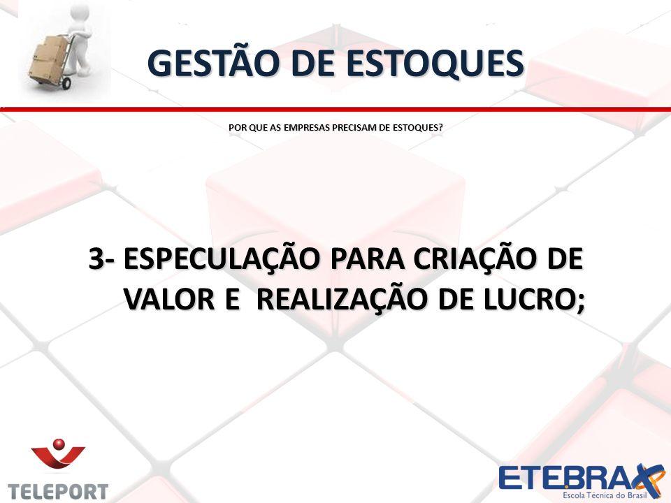 GESTÃO DE ESTOQUESPOR QUE AS EMPRESAS PRECISAM DE ESTOQUES.