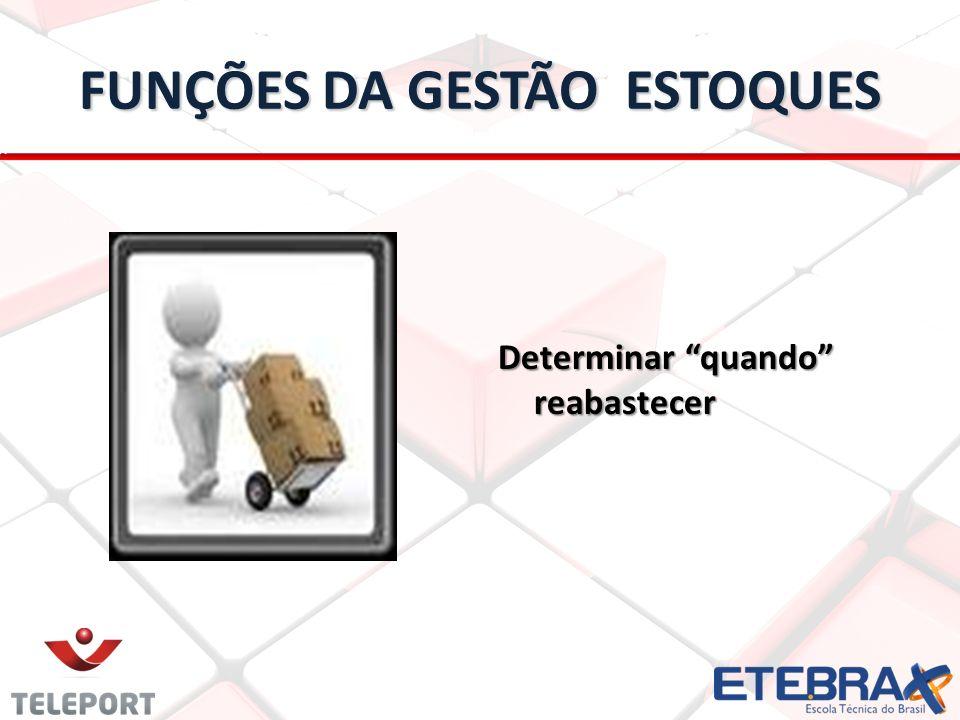 FUNÇÕES DA GESTÃO ESTOQUES